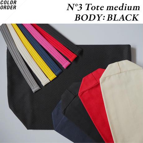 <COLOR ORDER> N°3 Tote medium:Blackボディ