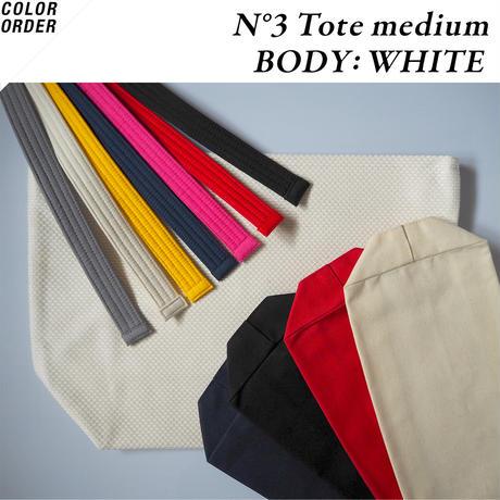 <COLOR ORDER> N°3 Tote medium:Whiteボディ