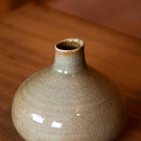 花器 玉葱型 c(若苗釉)