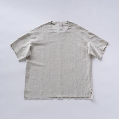 シルッキショートスリーブトップ -SILKKI LINEN- Silver beige