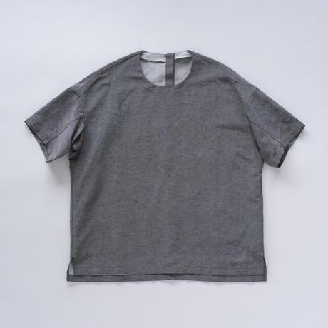 シルッキショートスリーブトップ -SILKKI LINEN- Gray