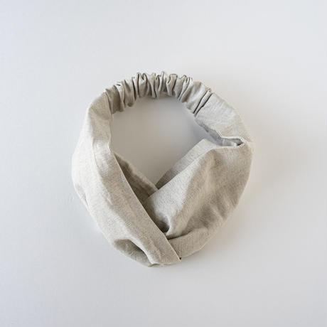 シルッキヘアバンド -SILKKI LINEN- Silver beige