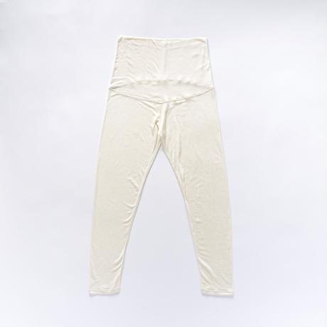 シルッキマタニティレギンス-Washable silk-white