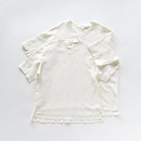 シルッキショートスリーブトップ -SILKKI LINEN- White