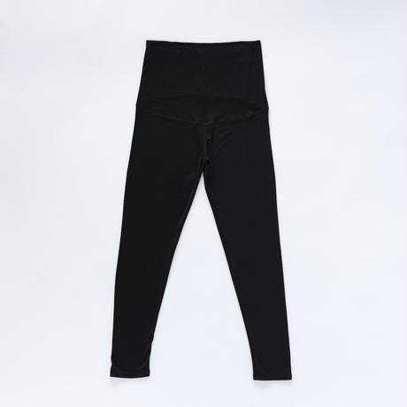 シルッキマタニティレギンス-Washable silk- black