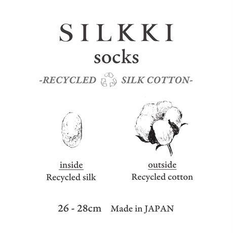 シルッキソックス -リサイクルシルクコットン-