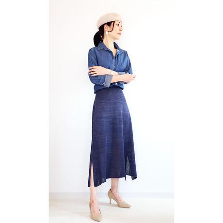 ◆即納◆Alnitak[アルニタク] サイドスリット・スカート / ネイビー・ブルー / Mサイズ