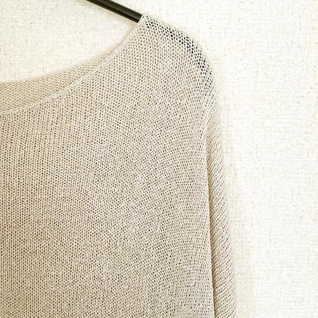 ◆特別価格◆Vela[ベラ] ボクシー・セーター2 / ビーチサンド・ベージュ