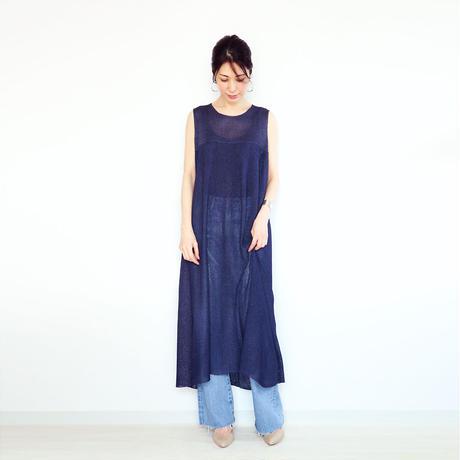 ◆即納◆Syrma[シュルマ] マキシ・ワンピース / ネイビー・ブルー / Mサイズ