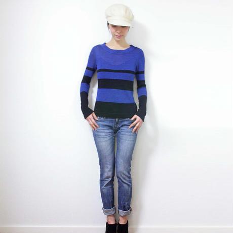 ◆特別価格◆Crux[クルックス] ラウンドネック・セーター / ブルー系1