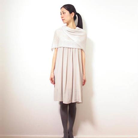 ◆即納◆Saiph[サイフ] 裾ラメ・エアリーストール / アイシー・グレー