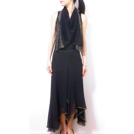 ◆即納◆Saiph[サイフ] 裾ラメ・エアリーストール / ブラック