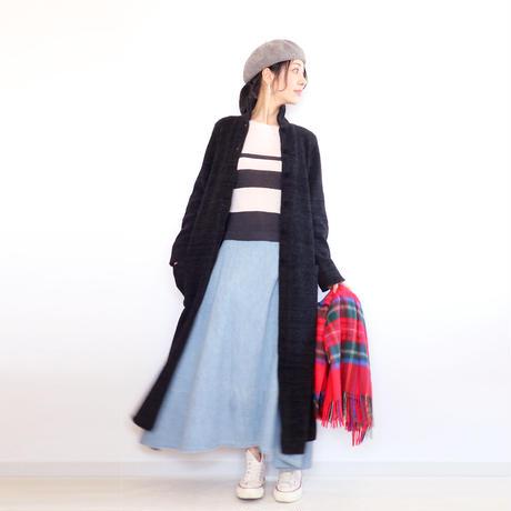 ◆ラスト1点◆即納◆Deneb[デネブ] シルクモール・ロングコート / ブラック / Mサイズ