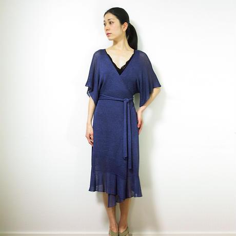 Porrima[ポリマ]カシュクール・ワンピース / ナイト・ブルー
