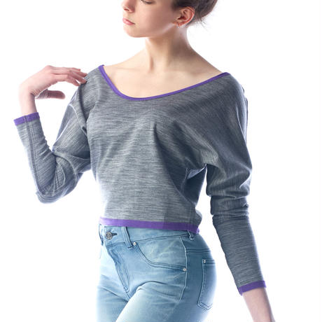 REVERSIBLE DOLMAN KNIT