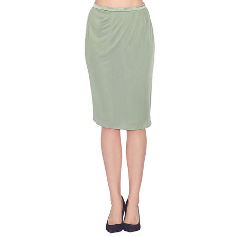 SILK KNIT PENCIL SKIRT
