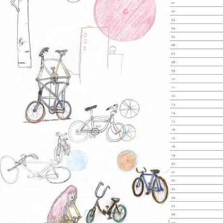 Adam's 2017 Bicycle Calendar