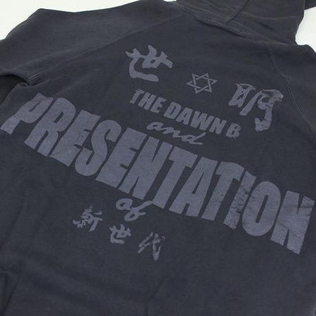 Auguste Presentation  × The Dawn B 夜明けの世明け スウェットパーカー  ブラック