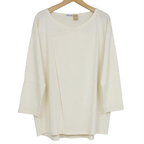 The Dawn B ザドーンビィ MOTHER'S  CUTSEW #1 Vネックカットソー 裏パイル