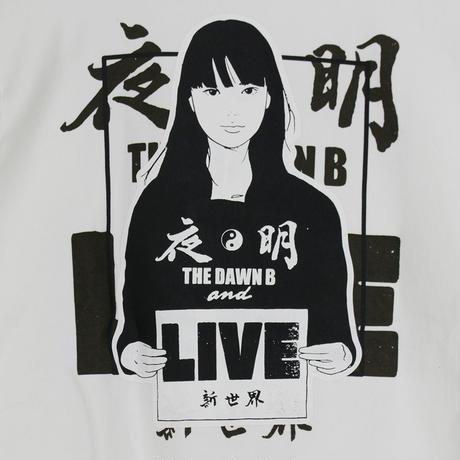 KYNE & THE DAWN B  夜明けガール スウェットパーカー ホワイト