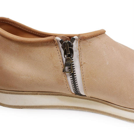 7CCR (セブンシーシーアール) 7171 Slip-on With Zip Hand Made Shoes NATURAL CALF