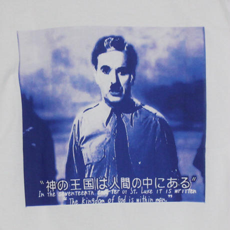 THE DAWN B LOCALIZE IT チャップリン 長袖Tシャツ ホワイト