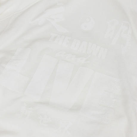 Auguste Presentation  × The Dawn B 夜明けの世明け 半袖 スウェットパーカー ホワイト