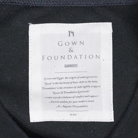 GOWN&FOUNDATION GARMENTS ローシルク 裏毛 クルーネックスウェット INK BLACK