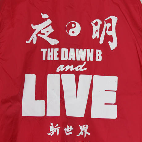 The Dawn B LOCALIZE IT 夜明 コーチジャケット RED