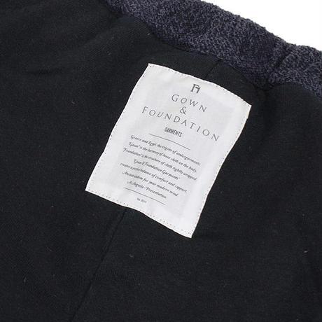 GOWN&FOUNDATION GARMENTS ローシルク 裏毛 テーパード スウェットパンツ INK BLACK