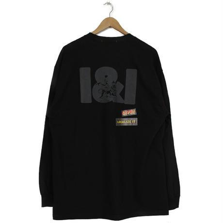 THE DAWN B LOCALIZE IT I&I LION OF JAH 長袖Tシャツ ブラック