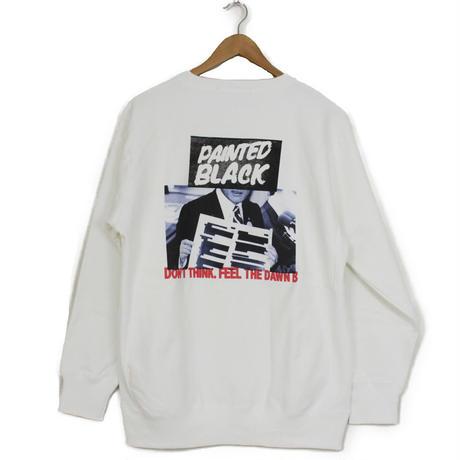 THE DAWN B LOCALIZE IT PAINTED BLACK スウェットシャツ ホワイト