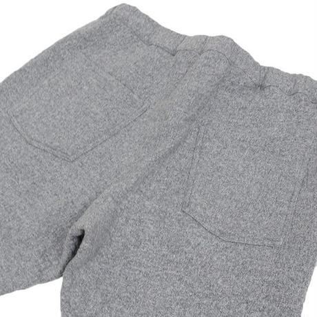 GOWN&FOUNDATION GARMENTS ウール/コットン 裏毛 テーパード スウェットパンツ CHARCOAL