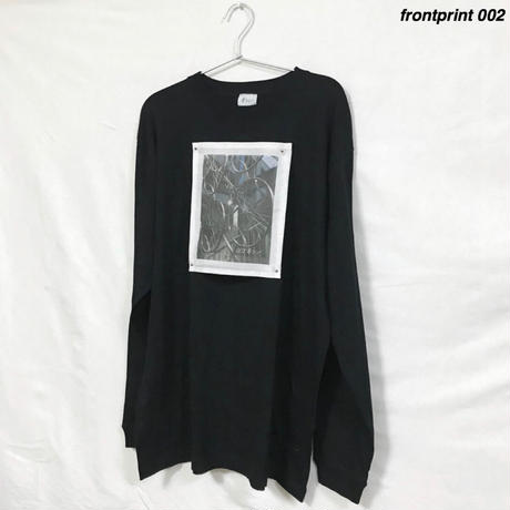 frontprint/ロンT 黒