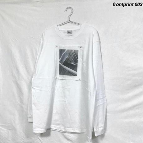 frontprint/ロンT 白