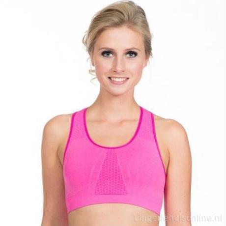 スポーツブラジャー 〈カラー ピンク〉