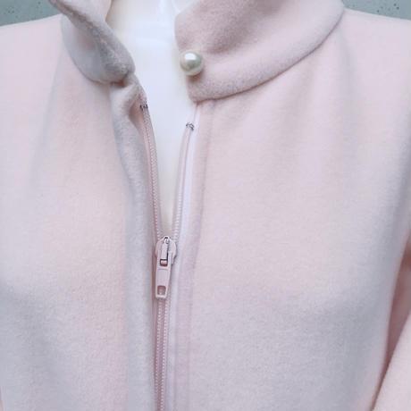 フリースガウン 〈カラー ピンク〉