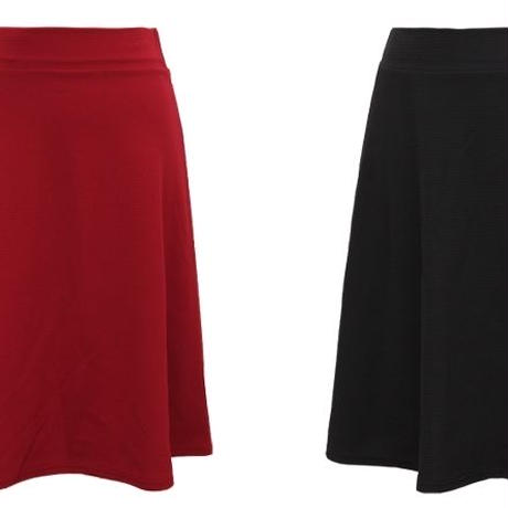 [ボトムス スカート]♪ミディ スカート ワイン・ブラック(フリー)♪