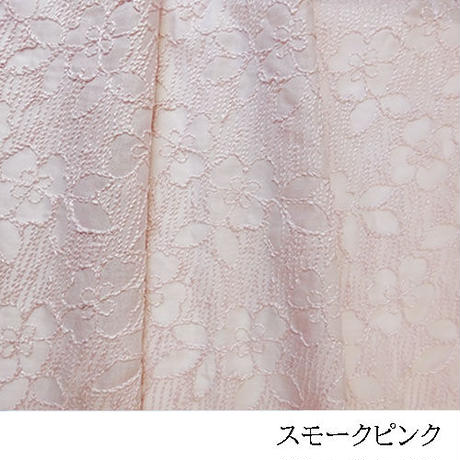 流れる花々 透け感有る刺しゅうMAT009