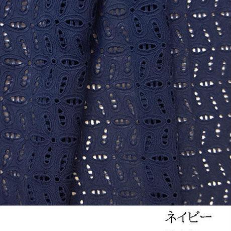 幾何柄カットワークレース刺しゅうMAT017