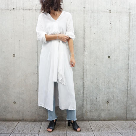 FRONT TIE SLIT SHIRTS ONEPIECE