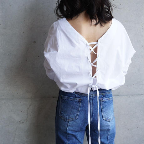 LACE UP BACK OPEN SHIRTS