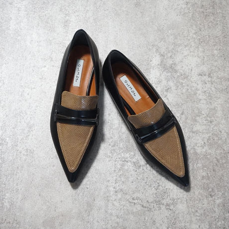 PYTHON POINTED TOE FLAT SHOES