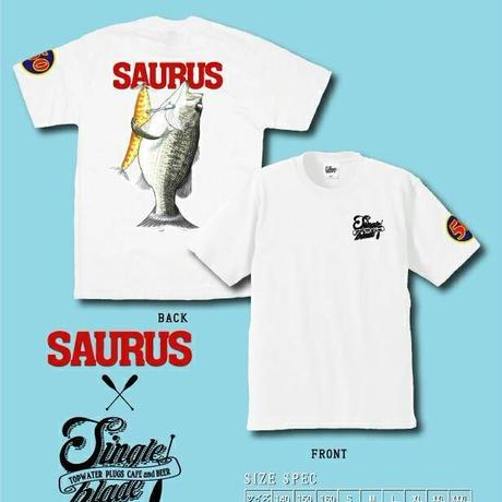 ザウルス×シングルブレードTシャツ