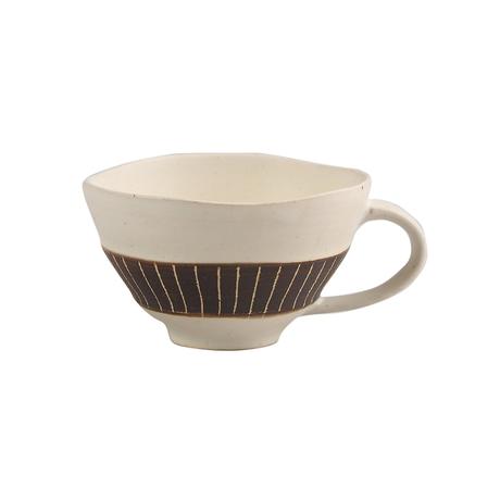 ホワイト&ビター スープカップ(ライン)