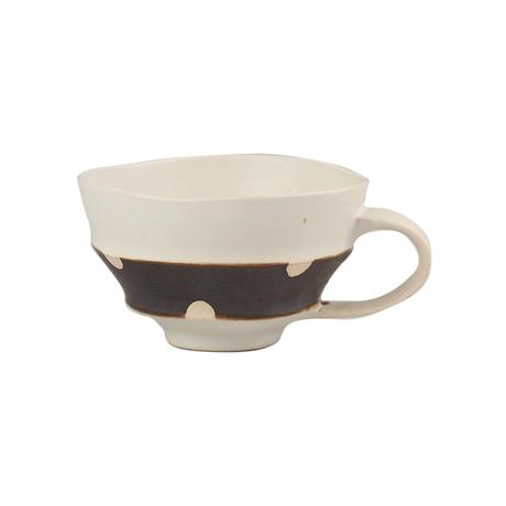ホワイト&ビター スープカップ(ドット)