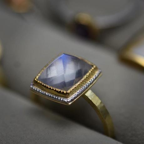 指環 ペリステライト K18YG/K22YG/silver925