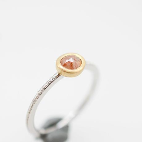 ナチュラルピンクダイヤモンドPt900-K22の指輪