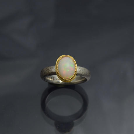 エチオピアオパール/silver925/K18YG/K22YGのリング