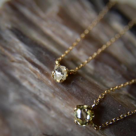 ラフ ダイヤモンド(0.20ct)のプチペンダントネックレス